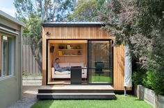 Contemporary Shed by Backyard Room