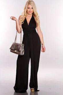 Black Halter Tie Jumpsuit Outfit