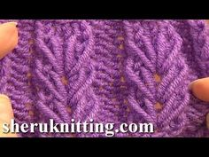 Wheat Ear Loop Stitch Pattern Tutorial 6 Free Knitting Stitch Patterns For Beginners - YouTube