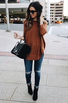 Feeling Fall jeans (size down one size) | sweater (wearing a small) | boots Fashion Look by Somewhere Lately