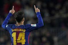 Coutinho scores first Barcelona league goal