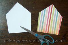 how to make circus invitations