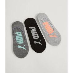 Puma Superlite 3 Pack Socks - Grey Medium (47 RON) ❤ liked on Polyvore featuring intimates, hosiery, socks, grey, logo socks, puma socks, gray socks and grey socks