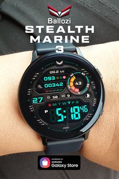 A digital watch face based on the Stealth Marine series. Educational Quotes For Students, Digital Watch Face, Stylish Watches, Watch Faces, Cool Tools, Smart Watch, Survival Gear, Indian Outfits, Gadget