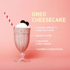 Oreo fans, take note: We blended up the cookies with a little cream cheese (use more if you like the tang) to recreate a slice of beloved Oreo Cheesecake. Complete the look with a dollop of whipped cr (Strawberry Chocolate Milkshake) Homemade Milkshake, Oreo Milkshake, Chocolate Milkshake, Milkshakes, Oreo Shake, Healthy Milkshake, Chocolate Syrup, Chocolate Chips, White Chocolate