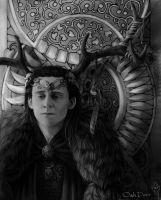 Loki in ritual robe by Oak-Deer