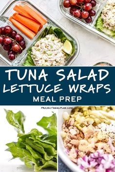 Make your next meal prep session quick and easy with this Low Carb Tuna Salad Lettuce Wraps Meal Prep lunch! It's a simple three serving meal prep of tuna salad on romaine lettuce wraps paired with fruits and veggies – healthy, easy, and no heating required! Sunday Meal Prep, Lunch Meal Prep, Meal Prep Bowls, Healthy Meal Prep, Healthy Recipes, Make Ahead Lunches, Prepped Lunches, Food Dishes, Main Dishes