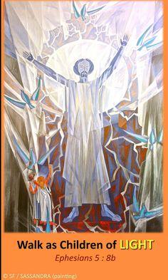 https://flic.kr/p/AK2KVP   Ephesians 5, 8b   Ebenezer Halleluiah creation Jacques-Richard Sassandra painting, Vaux-sur-Seine Evangelical Faculty, France 01/14/2015