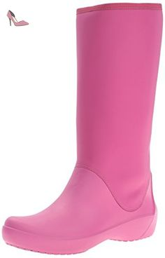 Crocs Crocband Airy Hearts Boot Ps, Bottes fille, Rose (Carnation/Fuchsia), EU 33-34 (J2)