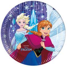 Frozen Snowflakes - Paper Plates