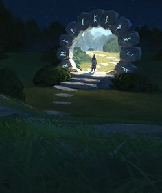 Time Portal by Thomas Stoop. Character Concept Art Illustration