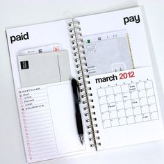 Organization : taxes and income planner   Planner inspiration