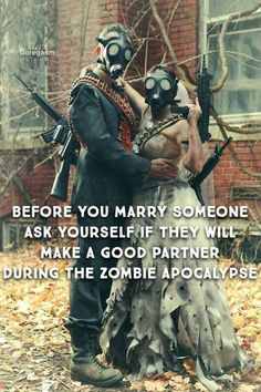 Zombie Wedding Great Idea To Have It Located In An Overgrown