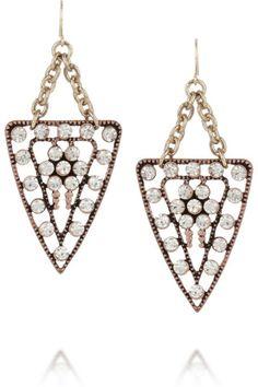 Lulu Frost|Galaxy gold-plated crystal earrings|NET-A-PORTER.COM