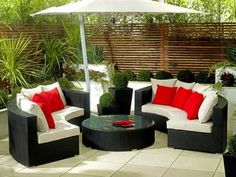 Cocoon Swivel 3 Piece Outdoor Balcony Setting BlackBlack Small
