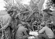 The Bay of Pigs Invasion in 1961. Cuban refugees and US military during the unsuccessful operation.
