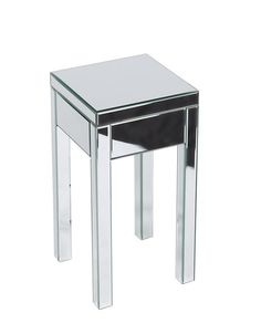 Office Star REF09-SLV Reflections End Table. Silver Mirror, KD