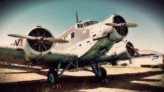 """Junkers Ju-52 / CASA C-352L  The Junkers Ju 52 (nicknamed Tante Ju (""""Aunt Ju"""") and Iron Annie) was a German trimotor transport aircraft manufactured from 1932 to 1945. It saw both civilian and military service during the 1930s and 1940s. In a civilian role it flew with over twelve air carriers including Swissair and Deutsche Luft Hansa as an airliner and freight hauler. In a military role it flew with the Luftwaffe as a troop and cargo transport and briefly as a medium bomber. The Ju 52…"""