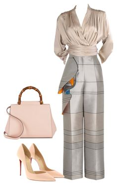 """""""Untitled #5"""" by ramona-toade on Polyvore featuring Roksanda, Yves Saint Laurent, Christian Louboutin and Gucci"""