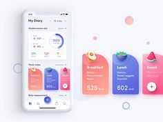 ioFit - Diet & Training App UI Kit — UI Kits on The Effective Pictures We Offer You About android App Design A quality picture can tell you many things. You can find the most beautiful pictures th Web Design Mobile, App Ui Design, Pop Design, Best App Design, Flat Design, Design Layout, Dashboard Design, Site Design, Graphic Design