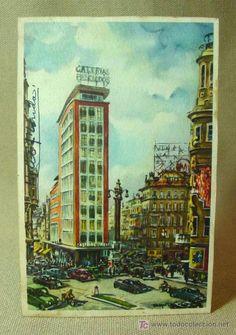 ANTIGUA POSTAL, MADRID, GALERIAS PRECIADOS, MEDIDAS: 13.5 X 8.5 CM.  (Postales - España - Comunidad de Madrid Antigua (hasta 1939) - Madrid Capital)