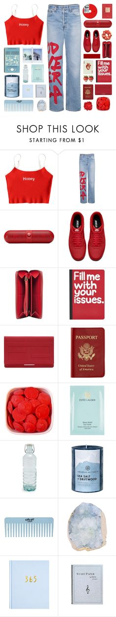 """""""love is a mystery, finally found the key"""" by megan-vanwinkle ❤ liked on Polyvore featuring R13, Beats by Dr. Dre, NIKE, Balenciaga, Pier 1 Imports, Fendi, Passport, Estée Lauder, Global and Chesapeake Bay Candle"""