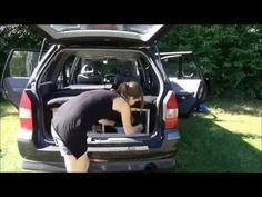 Vom Van zum Womo / einfacher Einbau Schlafplatz / Camping minimal im PKW - YouTube Outdoor Life, Campervan, Van Life, Baby Car Seats, Minimal, Adventure, Children, Boats, Dreams