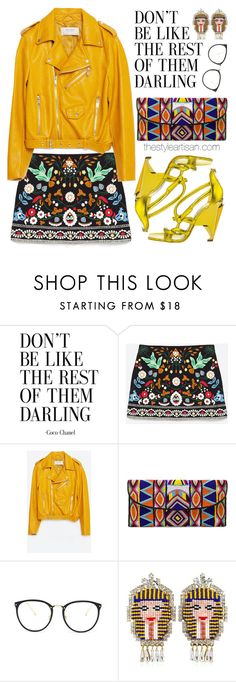 """""""Zara"""" by thestyleartisan ❤ liked on Polyvore featuring Zara, ASPIGA, Linda Farrow and Shourouk"""