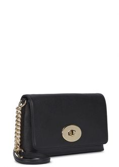 Crosstown black leather cross-body bag - Women