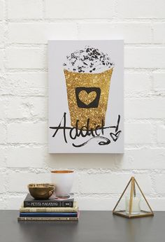 Pin for Later: 50 Pretty Valentine's Day Gifts For Your Friends — All Under $30  Coffee Addict Canvas Art ($30)
