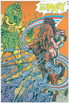 Scene from Tom Scioli's American Barbarian. This looks like its going to be amazing. Must buy. *drool*