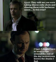 Mycroft's. Face. LOL