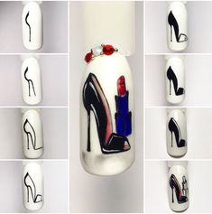 Nail Shapes - My Cool Nail Designs Nail Art Designs, Colorful Nail Designs, Nails Design, Nail Colours Summer 2018, Nail Colors, Dark Nails, Blue Nails, Light Nails, Nagel Bling