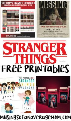 I love Stranger Things! I binged watched both seasons in like 4 days. And now I can not wait until Season So here is a round-up of 20 fr. Stranger Things Theme, Stranger Things Season 3, Stranger Things Aesthetic, Stranger Things Funny, Eleven Stranger Things, Party Printables, Free Printables, Printable Poster, 11th Birthday