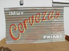 Vintage HAND PAINTED METAL SIGNS 4 ur Mexican Restaurant Bar Patio Den...looks like a DIY project Amigas!!!