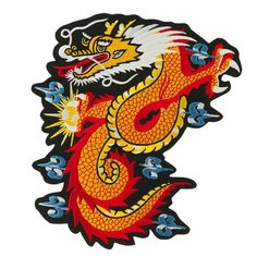Extra Large Dragon Animal Embroidered Patch - Dragon Ball OSFM
