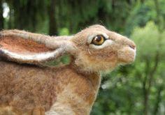 Sarafina Fiber Art - needle felted rabbit