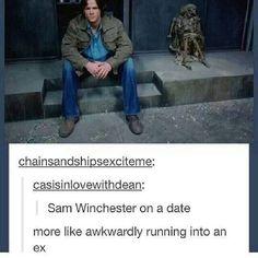 More like awkwardly running into an ex.. hahahahahahaha