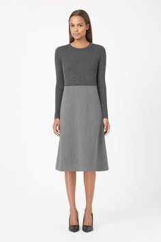 COS | Ribbed top wool dress