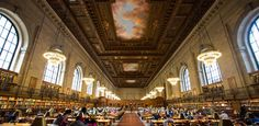 New York Public Library -  The fourth largest library in the world, the NYPL holds more than 53 million items and was built over 12 years using 530,000 cubic feet of marble.  It is one of the worlds top 9 most beautiful libraries.