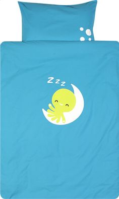 Otto neemt je baby mee naar zijn dromenland diep in de zee met dit blauwe Dreambee-dekbedovertrek.