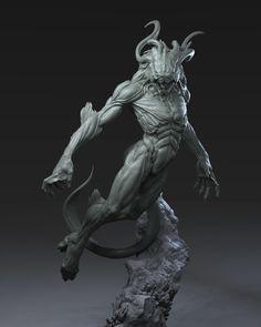 -- Share via Artstation iOS App, Artstation © 2016 Alien Creatures, Fantasy Creatures, Mythical Creatures, Zbrush, Creature Feature, Creature Design, Sculpture Art, Sculptures, Character Art