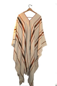 One Size Oversized Mens Unisex Poncho Tribal by GrimmVintage, $58.00