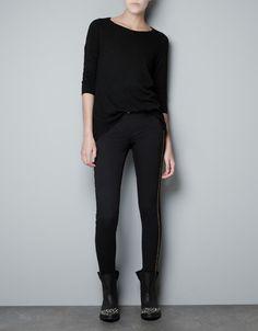SWEATER WITH DEVORE SILK BACK - Knitwear - Woman - ZARA United States