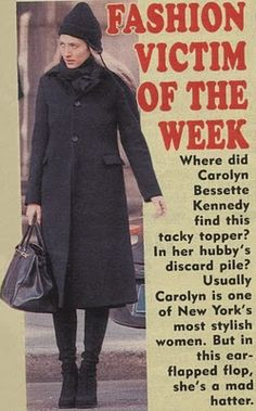 Carolyn Bessette Kennedy Blog. This makes me laugh. I mean....out loud. Great.