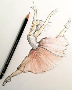 Happy New Year everyone! Happy New Year everyone! Ballerina Kunst, Ballerina Drawing, Dancer Drawing, Ballet Drawings, Dancing Drawings, Pencil Art Drawings, Art Drawings Sketches, Cute Drawings, How To Draw Ballerina