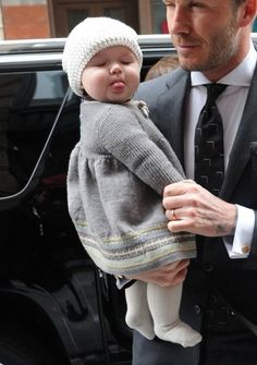 D. Beckham's daughter. So cute!