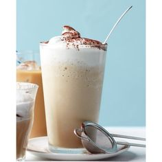 Coffee Frappe ❤ liked on Polyvore featuring drinks, food and coffee