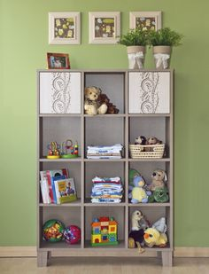 Holy wide cabinet with shelves / Holly polcos széles szekrény Bedroom Shelving, Cot, Kids Room, Cabinet, Home Decor, Organizers, Crib Bedding, Clothes Stand, Decoration Home