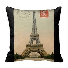 Shop Vintage French Chic Eiffel Tower Paris Postcard Throw Pillow created by Biblioartgifts. Vintage Paris, French Vintage, Vintage Shops, Accent Pillows, Throw Pillows, Paris Eiffel Tower, French Chic, Photography Tutorials, Custom Pillows